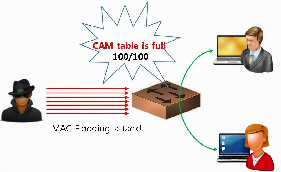 حمله Mac Flooding